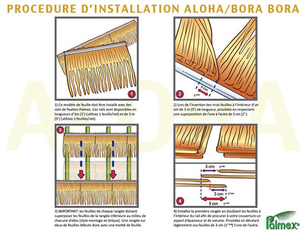 Méthode d'installation - Feuilles de palmiers - Aloha / Bora Bora