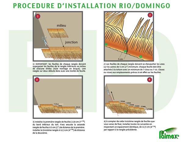 Méthode d'installation - Feuilles de palmiers - Rio / Domingo